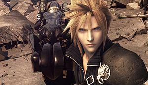 Cloud's design in Final Fantasy VII Advent Chi...