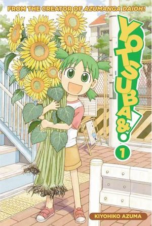 The cover of the first volume of the Yotsuba&!...